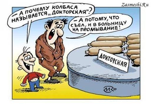Картинки по запросу карикатура на докторскую колбасу