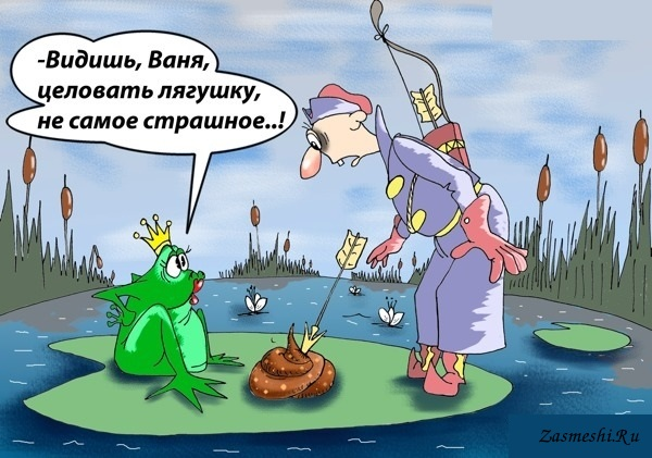 Ели надписью, картинки карикатура лягушка царевна