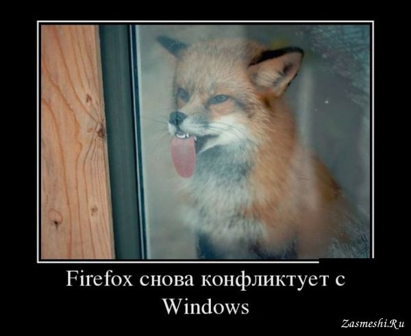 Демотиватор - Firefox и Windows