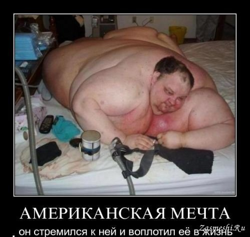 Демотиваторы толстые американцы